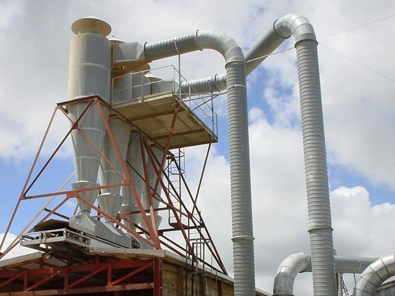 کاربرد غبارگیر سیکلون در کارخانه ها(Application of cyclone dust collector in factories)