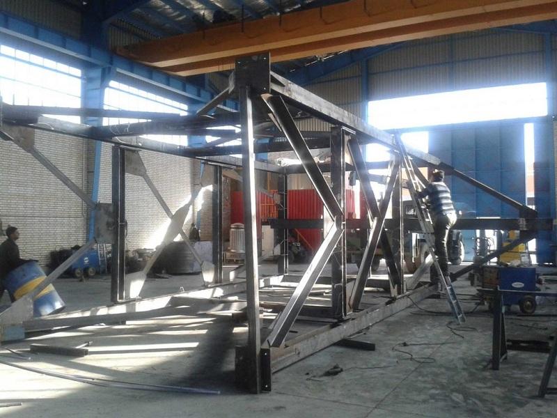 مراحل ساخت استراکچرهای فلزی