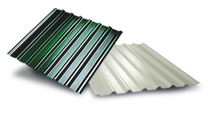 پوشش سقفی با ورق گالوانیزه رنگی